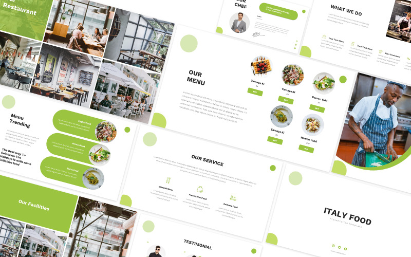 Italy Food Powerpoint Template