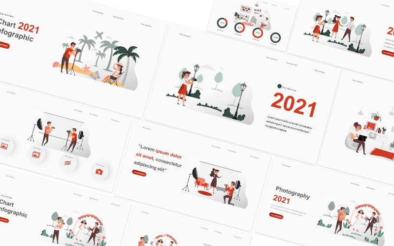 Photography Illustration Powerpoint Template