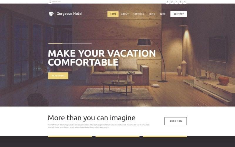 Free Hotels Responsive WordPress Theme