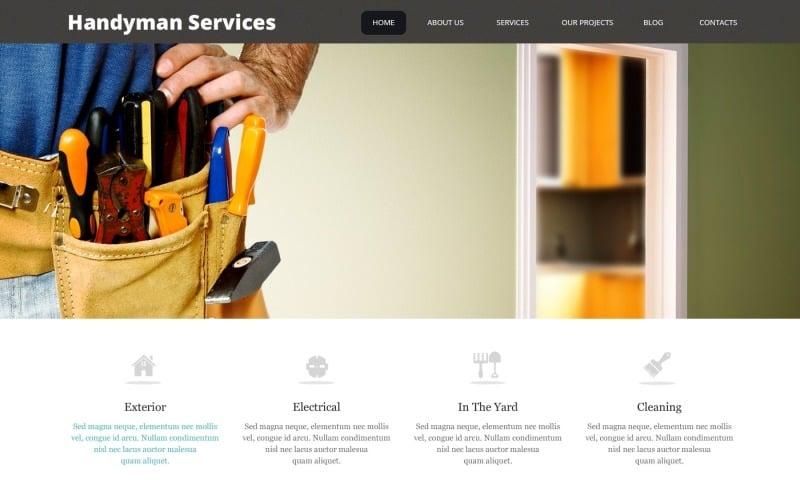 Free Impressive Handyman Services WordPress Theme