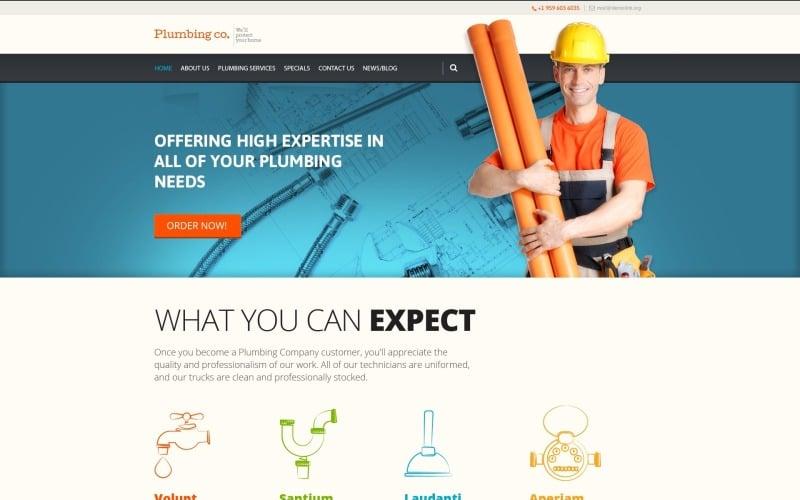 Free Plumbing Services WordPress Template