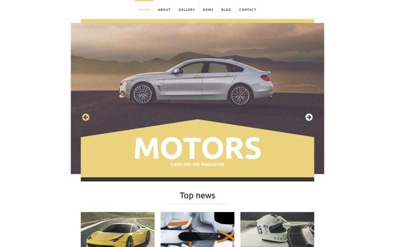 Free Responsive WordPress Design for a Car Club
