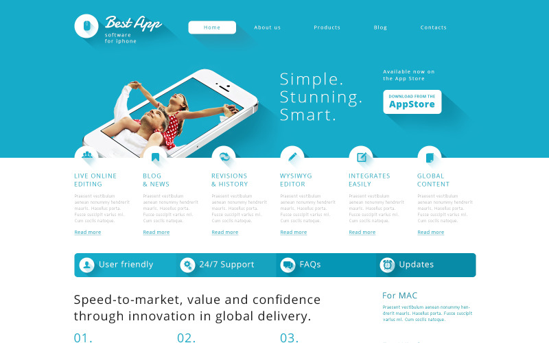 Free Software Company Responsive WordPress Theme