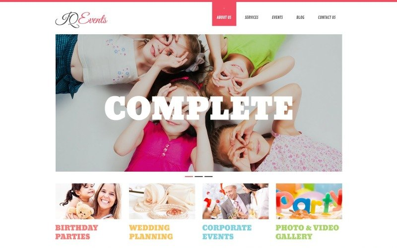 Free WordPress Template for Event Planning Agencies
