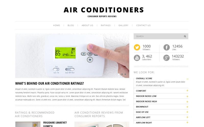 Gratis luftkonditionering WordPress -tema