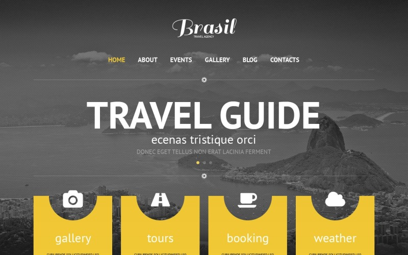 Ücretsiz Seyahat Acentası Duyarlı WordPress Teması