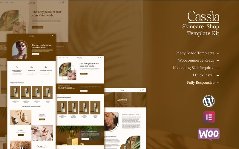 Cassia - Skincare Shop Elementor Template Kit