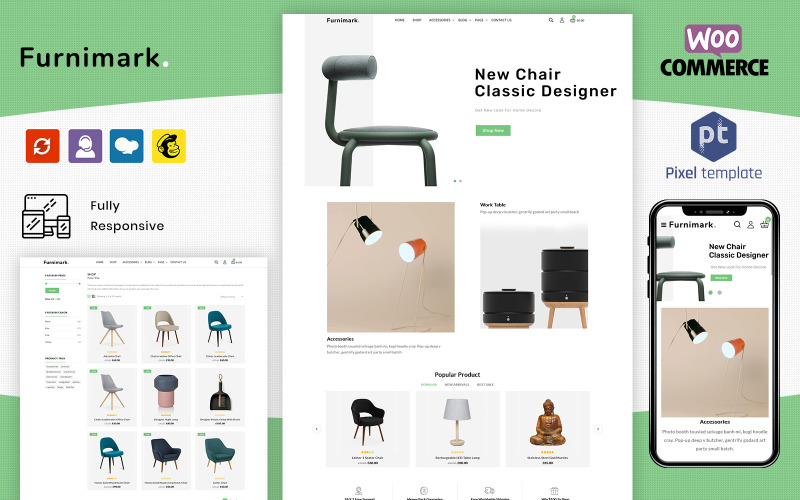 Furnimark - Modern Furniture WordPress WooCommerce Store