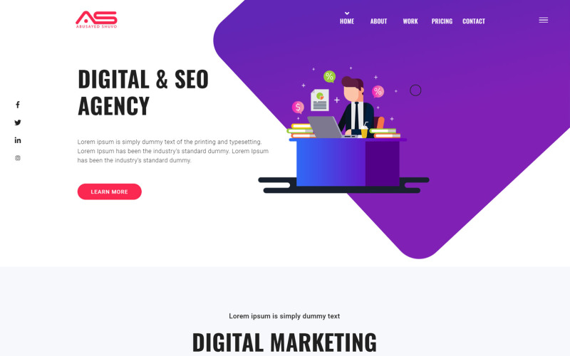 Abusayed | SEO and Marketing Agency HTML5 Landing Page Template