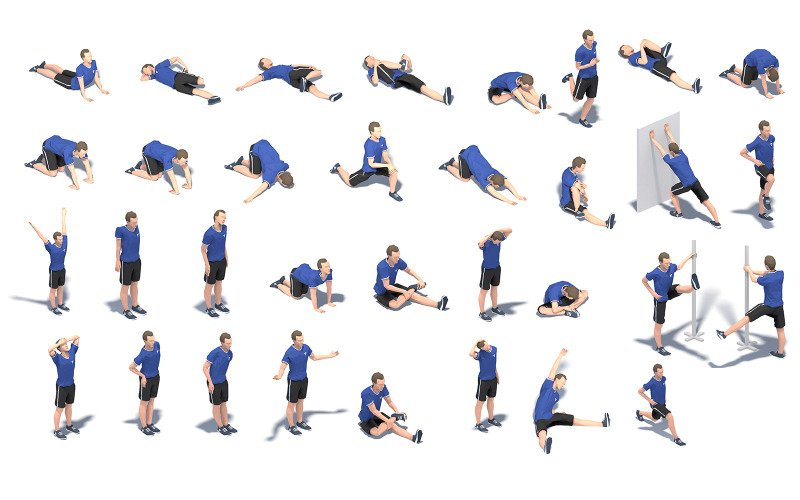 32 Stretch Animation 3d Model Bundle