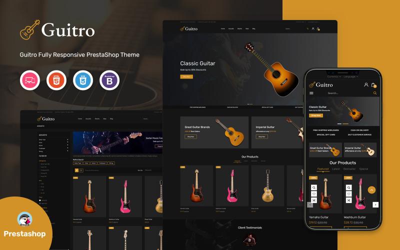Guitro - Music PrestaShop Template