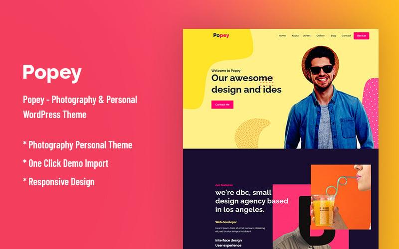 Popey - Personal & CV Responsive WordPress Theme