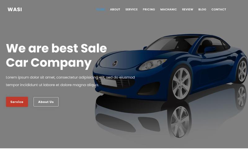Wasi - Car & Repair Landing Page Theme