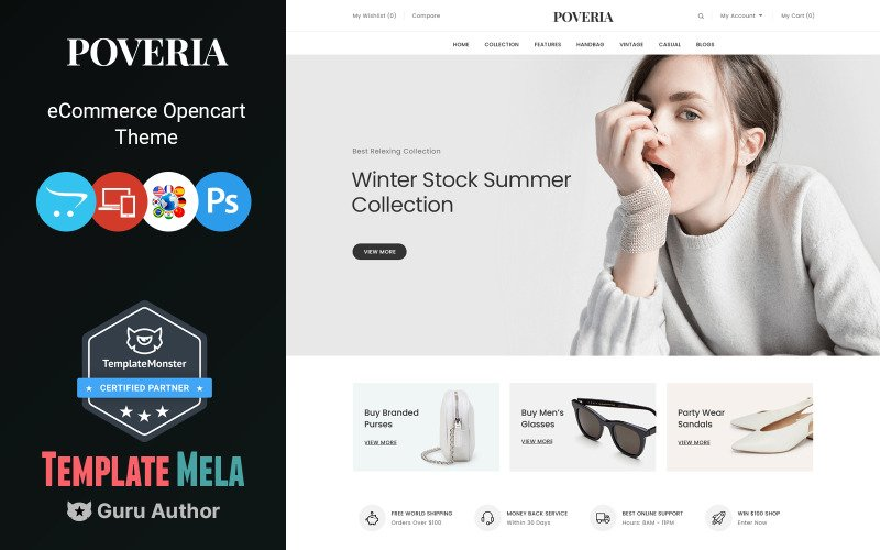 Poveria - Multipurpose OpenCart 3 Theme for Fashion