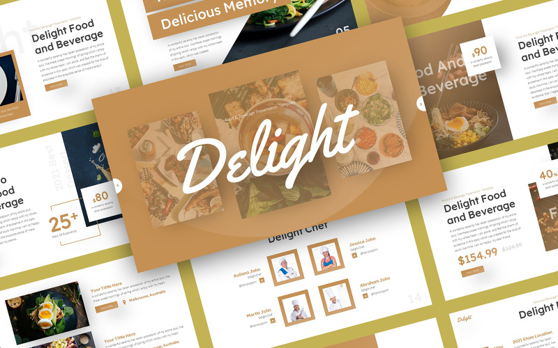 Delight - Food & Beverage PowerPoint Template