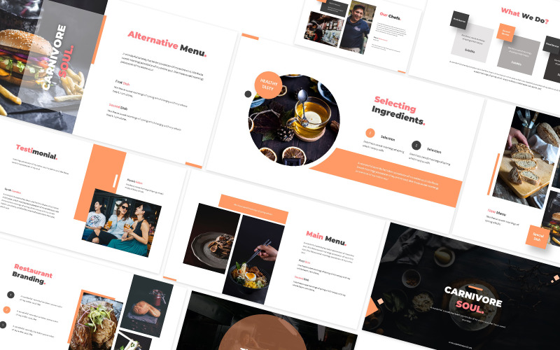Carnivore Soul Food Powerpoint Template