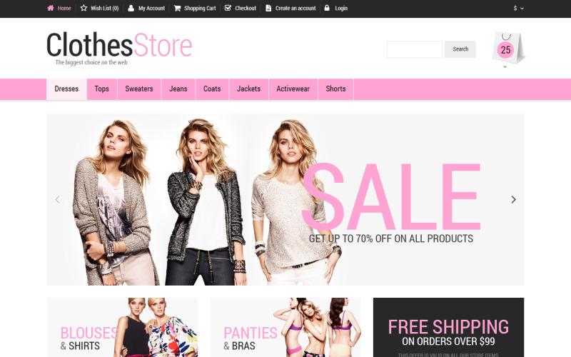 Бесплатный адаптивный шаблон OpenCart для магазина модной одежды