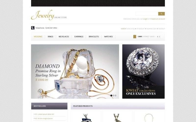 Free Jewelry OpenCart Template