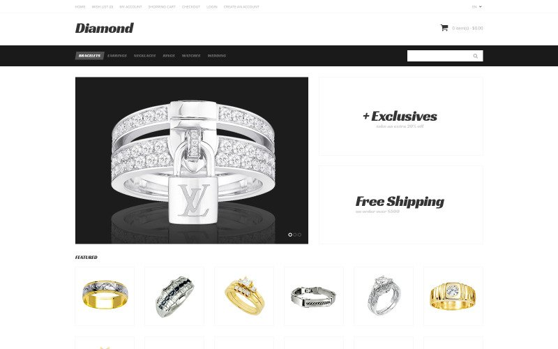Free Jewelry Responsive OpenCart Template