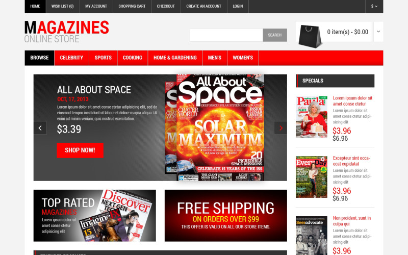 Free News Portal Responsive OpenCart Template