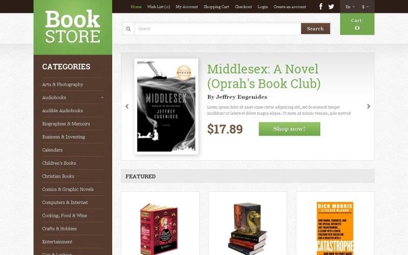 Free Books Shop Responsive OpenCart Template