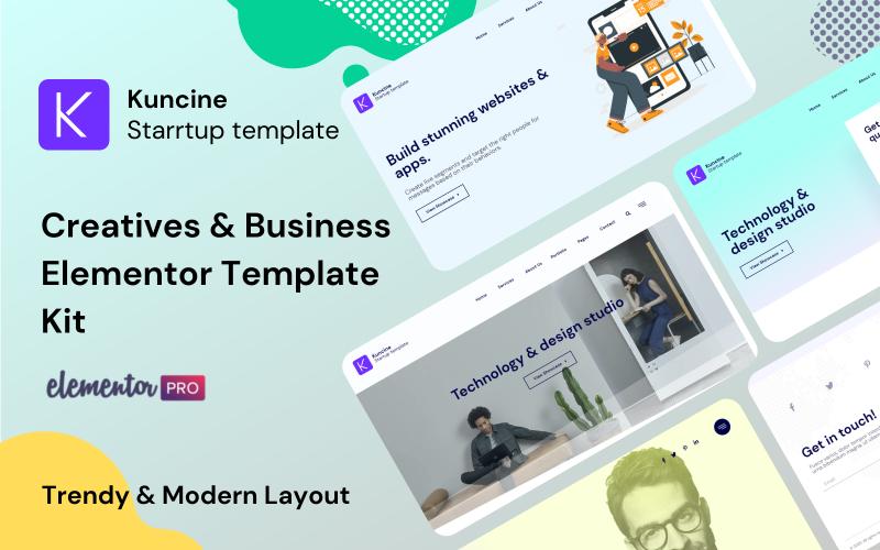 Kuncine - Kit de modèles Elementor Creatives & Business