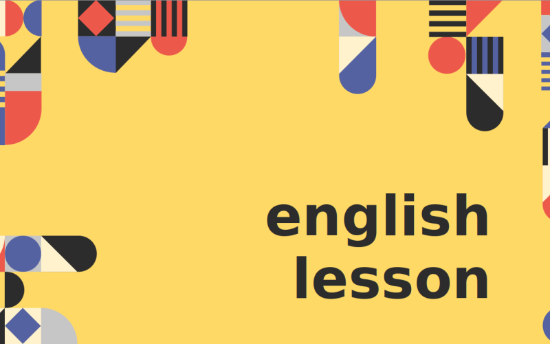 English lessons Presentation PowerPoint Template