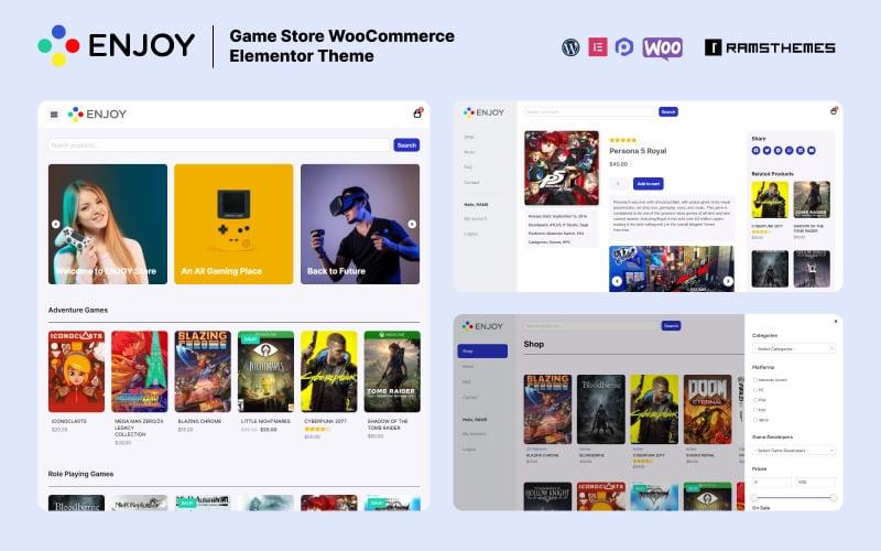 ENJOY - Game Store WooCommerce Theme