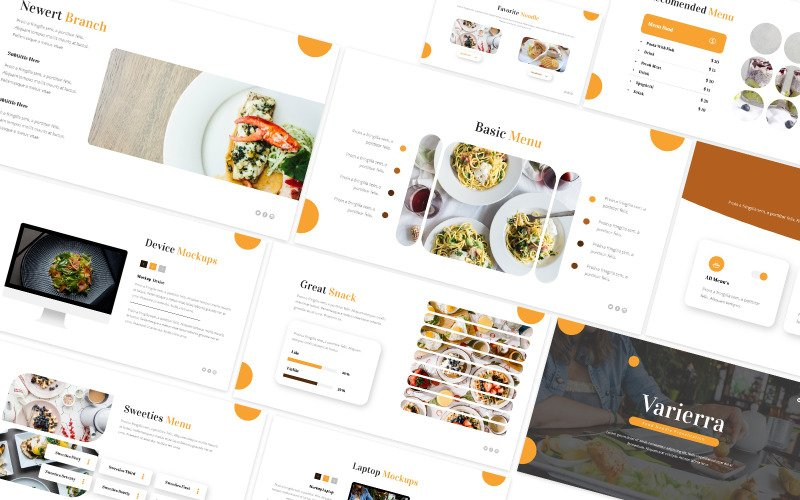Food Noodle Powerpoint Template