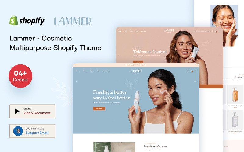 Lammer - Cosmetic Multipurpose Shopify Theme