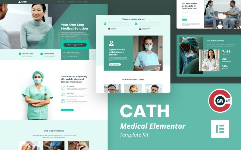 Cath - Kit de modèles médicaux Elementor