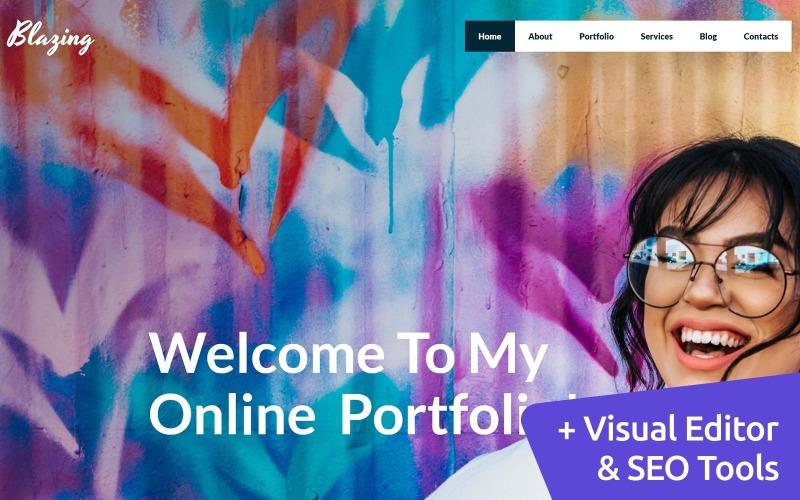 Portfolio personnel Modèle de site Web créatif MotoCMS