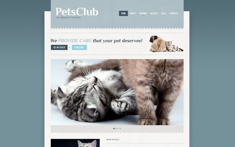 Free WordPress Template for Animals & Pets Online Business