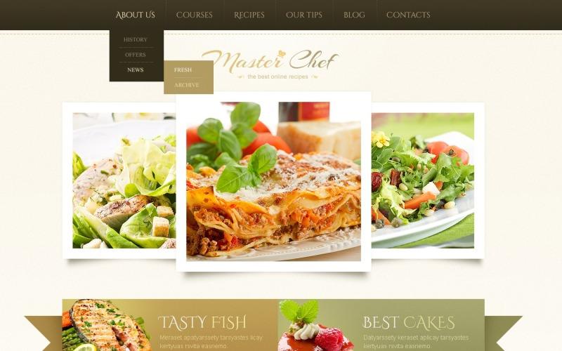 Ücretsiz Bej Pişirme WordPress Teması