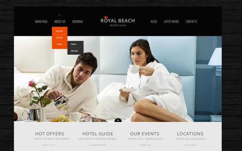 Ücretsiz Black Hotel Business WordPress Teması