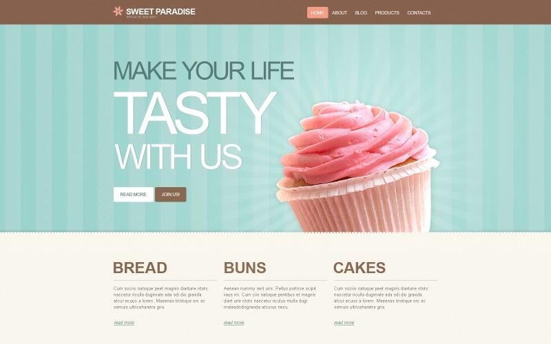 Ücretsiz WordPress Fırın Teşvik Şablonu