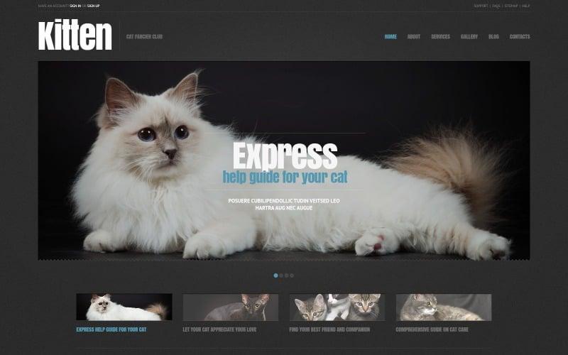 Free Cat Responsive WordPress Theme