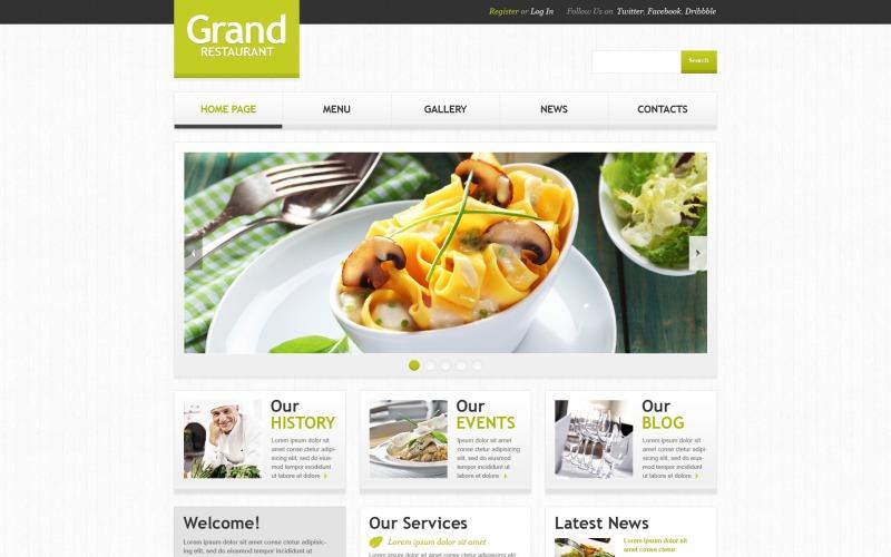 Kafe ve Restoran için Ücretsiz WordPress Önyükleme Şablonu