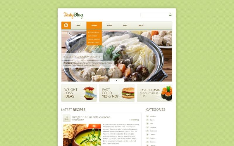 Ücretsiz Yemek Tarifleri WordPress Teması ve Web Sitesi Şablonu