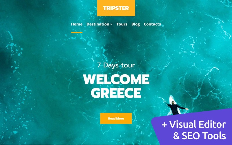 Reiseblog MotoCMS Website-Design