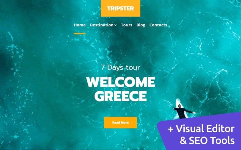 Travel Blog MotoCMS Website Design