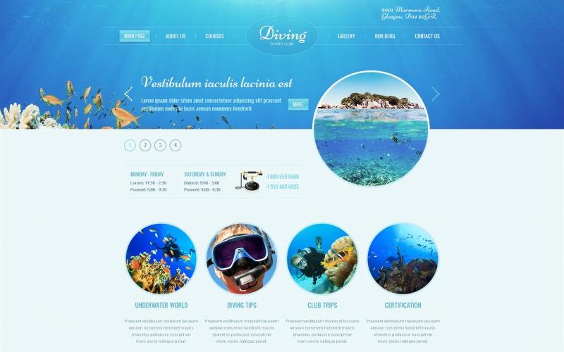 Ücretsiz Dalış WordPress Teması ve Web Sitesi Şablonu