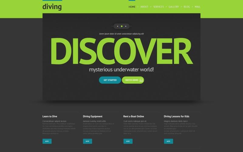 Ücretsiz Discover Diving WordPress Teması ve Web Sitesi Şablonu