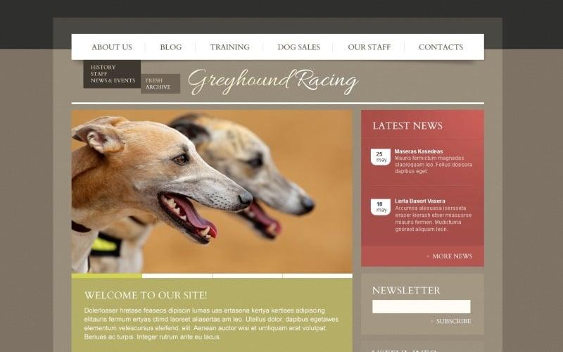 Free Dog WordPress Layout & Website Template