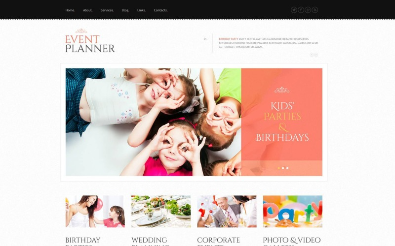 Free Event Planner WordPress Theme & Website Template