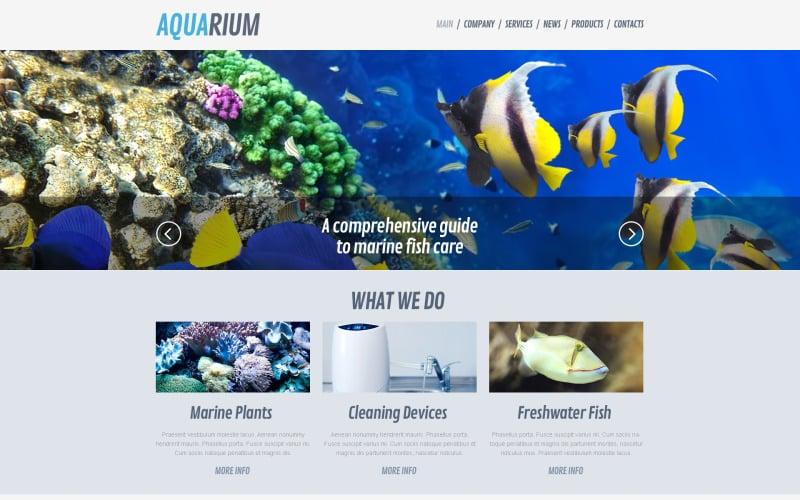 Free Fish WordPress Theme & Website Template