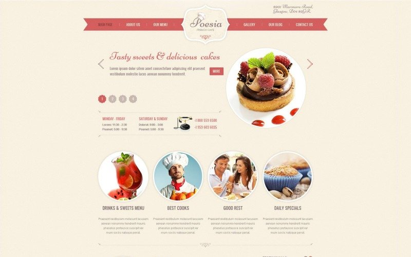 Free French Restaurant WordPress Theme & Website Template