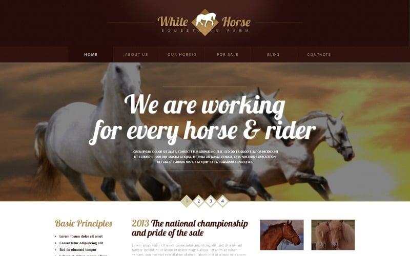 Free Gorgeous Horses WordPress Theme & Website Template