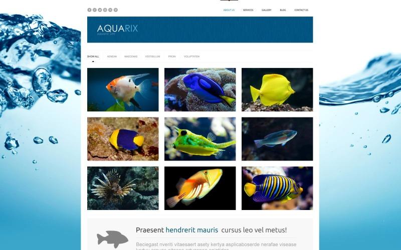 Ücretsiz Balık Duyarlı WordPress Web Sitesi Düzeni