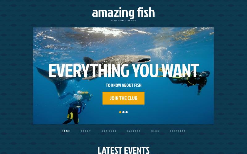 Ücretsiz Balık Duyarlı WordPress Web Sitesi Şablonu